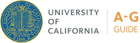 University of California: A-G Courses