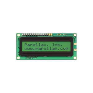 27977 Parallax 2x16 Serial LCD (Backlit)