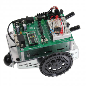 28132: Boe-Bot Robot - Serial (with USB adapter) Infra Red Assembled View