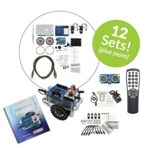 32339: Shield-Bot with Arduino 12-pack Plus Kit - set view