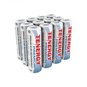 752-00022: 1.2 V AA Ni-MH Rechargeable Batteries, 12-pack - unpacked view
