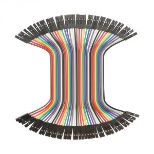 800-0061 - 100mm Jumper Wires, FF 40-piece Ribbon - top view