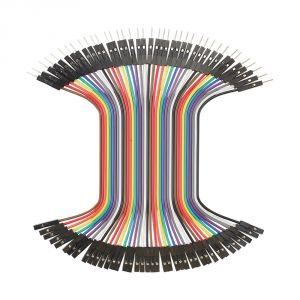 800-00063 - 100mm Jumper Wires, MF 40-piece Ribbon - top view
