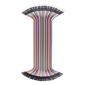 800-00064 - 200mm Jumper Wires, MF 40-piece Ribbon - top view