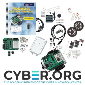 81031: CYBER.ORG Boe-Bot Kit - kit and assembled view with logo