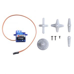 900-00030: FT90R Digital Mini 3.3V Continuous Rotation Servo - with accessories