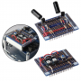 EDU Circuit Overlay Board (#32999) kit, assembled with example circuits